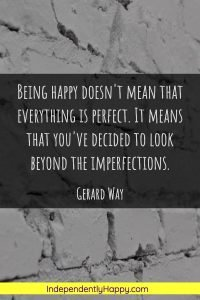 look beyond imperfections