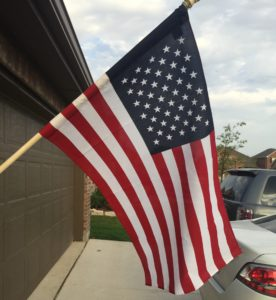 That's our flag on our house!