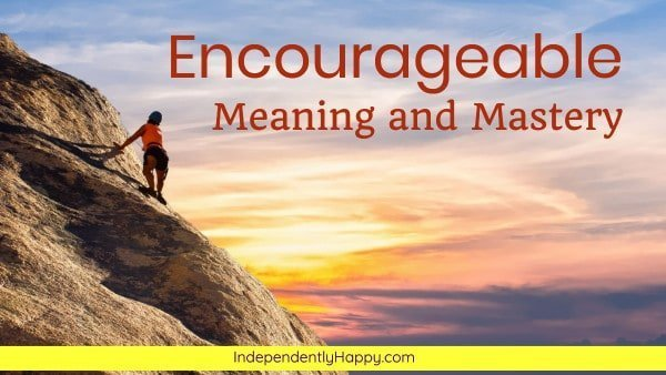encourageable meaning